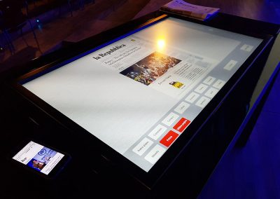 La Repubblica – Interactive Table